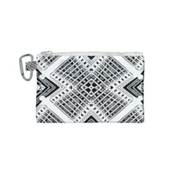 Pattern Tile Repeating Geometric Canvas Cosmetic Bag (small)