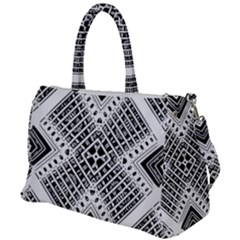Pattern Tile Repeating Geometric Duffel Travel Bag