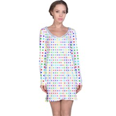 Dots Color Rows Columns Background Long Sleeve Nightdress