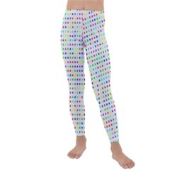 Dots Color Rows Columns Background Kids  Lightweight Velour Leggings