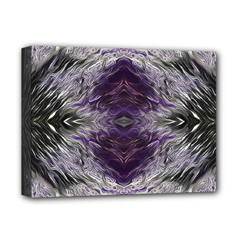 Pattern Abstract Horizontal Deluxe Canvas 16  X 12  (stretched)