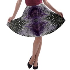 Pattern Abstract Horizontal A Line Skater Skirt