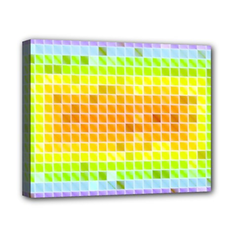 Pattern Geometric Square Art Canvas 10  X 8  (stretched)
