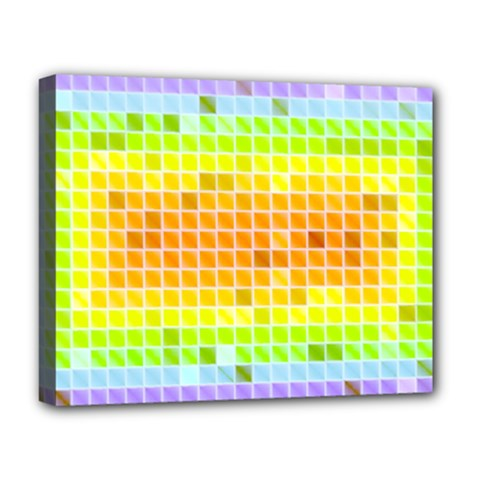Pattern Geometric Square Art Deluxe Canvas 20  X 16  (stretched) by Pakrebo