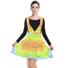Pattern Geometric Square Art Plunge Pinafore Dress