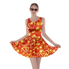 Pattern Valentine Heart Love Skater Dress