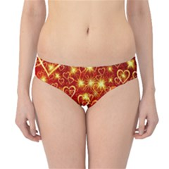 Pattern Valentine Heart Love Hipster Bikini Bottoms