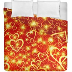 Pattern Valentine Heart Love Duvet Cover Double Side (king Size)