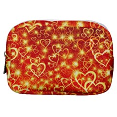 Pattern Valentine Heart Love Make Up Pouch (small)