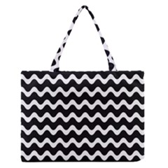 Wave Pattern Wave Halftone Zipper Medium Tote Bag by Jojostore