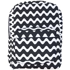 Wave Pattern Wave Halftone Full Print Backpack