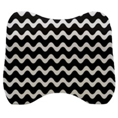 Wave Pattern Wave Halftone Velour Head Support Cushion