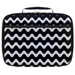 Wave Pattern Wave Halftone Full Print Lunch Bag