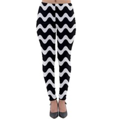 Wave Pattern Wave Halftone Lightweight Velour Leggings