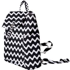 Wave Pattern Wave Halftone Buckle Everyday Backpack