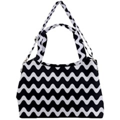 Wave Pattern Wave Halftone Double Compartment Shoulder Bag by Jojostore