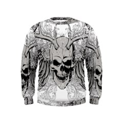 Skull Vector Kids  Sweatshirt