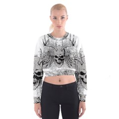 Skull Vector Cropped Sweatshirt