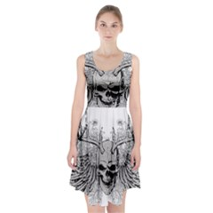 Skull Vector Racerback Midi Dress
