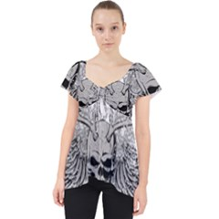 Skull Vector Lace Front Dolly Top