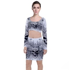 Skull Vector Top And Skirt Sets