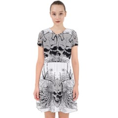 Skull Vector Adorable In Chiffon Dress