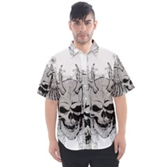 Skull Vector Men s Short Sleeve Shirt