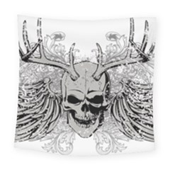 Skull Vector Square Tapestry (large)