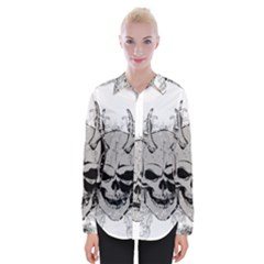 Skull Vector Womens Long Sleeve Shirt