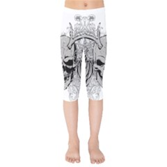 Skull Vector Kids  Capri Leggings