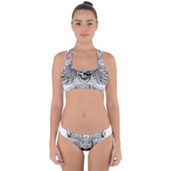 Skull Vector Cross Back Hipster Bikini Set