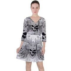 Skull Vector Ruffle Dress