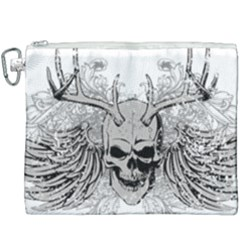Skull Vector Canvas Cosmetic Bag (xxxl)