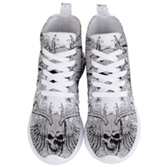 Skull Vector Women s Lightweight High Top Sneakers