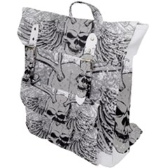 Skull Vector Buckle Up Backpack