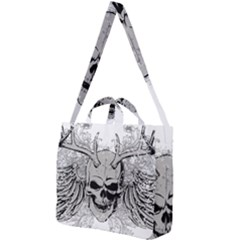 Skull Vector Square Shoulder Tote Bag