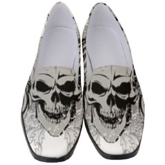 Skull Vector Women s Classic Loafer Heels
