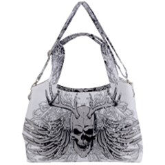 Skull Vector Double Compartment Shoulder Bag by Alisyart