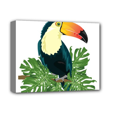 Tropical Birds Deluxe Canvas 14  X 11  (stretched)