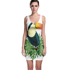 Tropical Birds Bodycon Dress