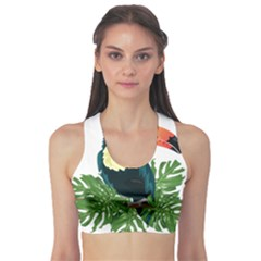Tropical Birds Sports Bra