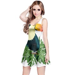 Tropical Birds Reversible Sleeveless Dress