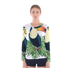 Tropical Birds Women s Long Sleeve Tee