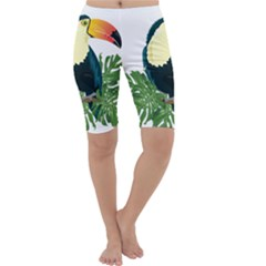 Tropical Birds Cropped Leggings