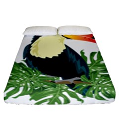 Tropical Birds Fitted Sheet (king Size)