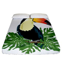 Tropical Birds Fitted Sheet (california King Size)