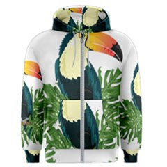 Tropical Birds Men s Zipper Hoodie