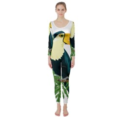 Tropical Birds Long Sleeve Catsuit