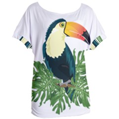 Tropical Birds Women s Oversized Tee