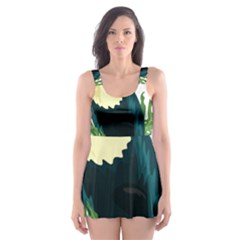 Tropical Birds Skater Dress Swimsuit